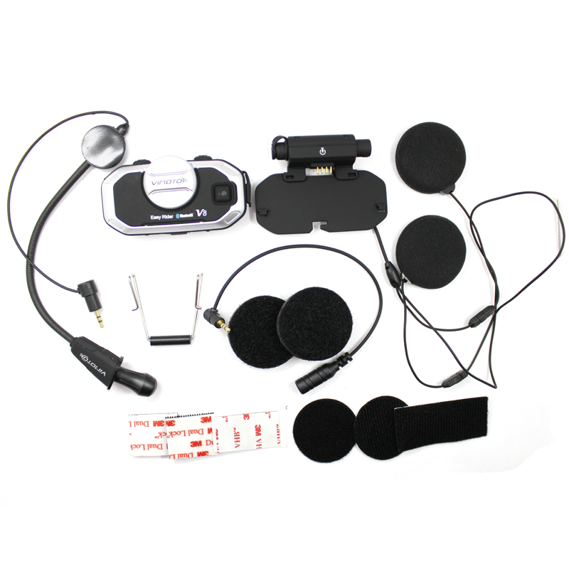 Version anglaise Easy Rider 2 ensembles Vimoto V8 casque Bluetooth casque moto stéréo casque pour téléphone portable et GPS Radio - 5