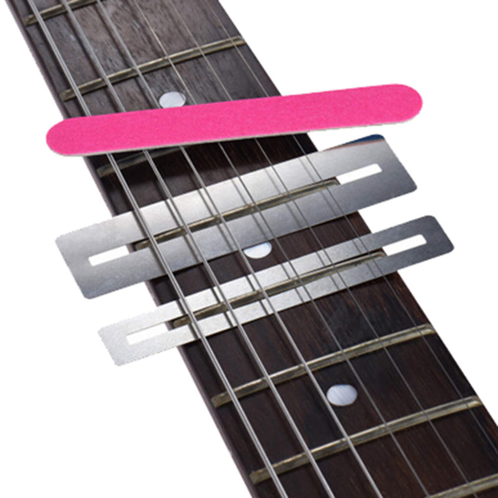Sports & Entertainment 3 Pcs Guitar Bass Fretboard Fret Protector Fingerboard Guards Steel Shim Practical Guitar Repair Tool Strengthening Waist And Sinews Musical Instruments