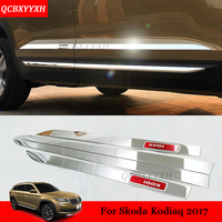 4pcs Set Car Styling Stainless Steel Molding Door Body Strips Accessories External Decoration Strips For Skoda