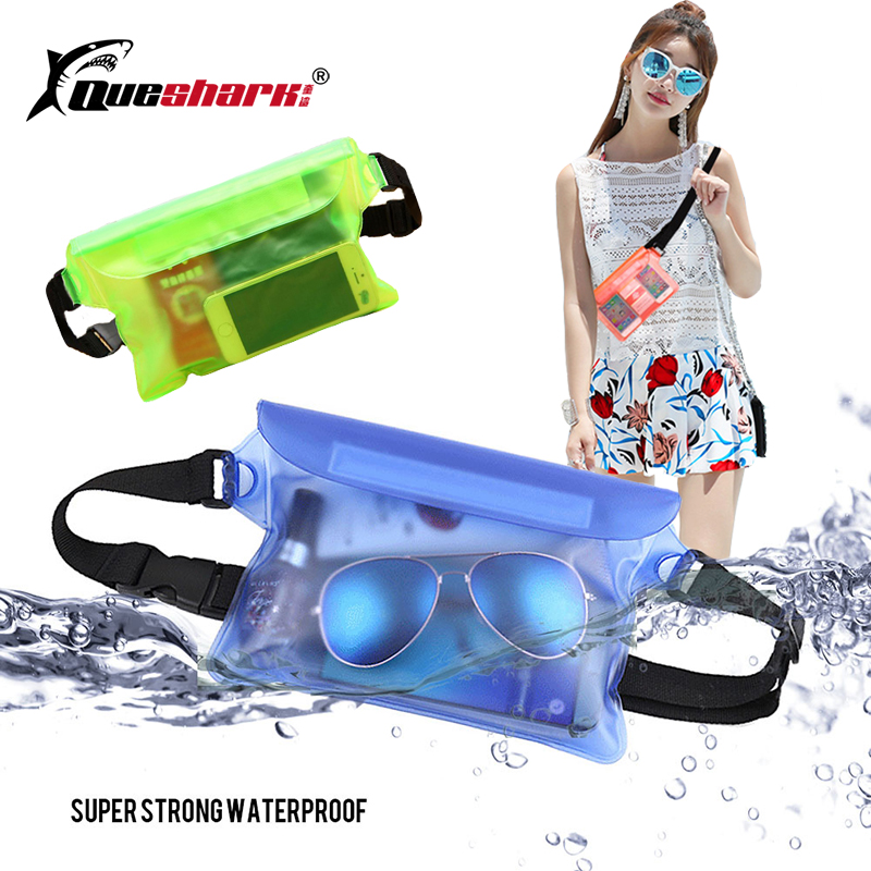 Outdoor Waterproof Swimming Bag Camping Rafting Storage Dry Bag With Adjustable Strap Universal Waist Pack Pouch For Cell Phone