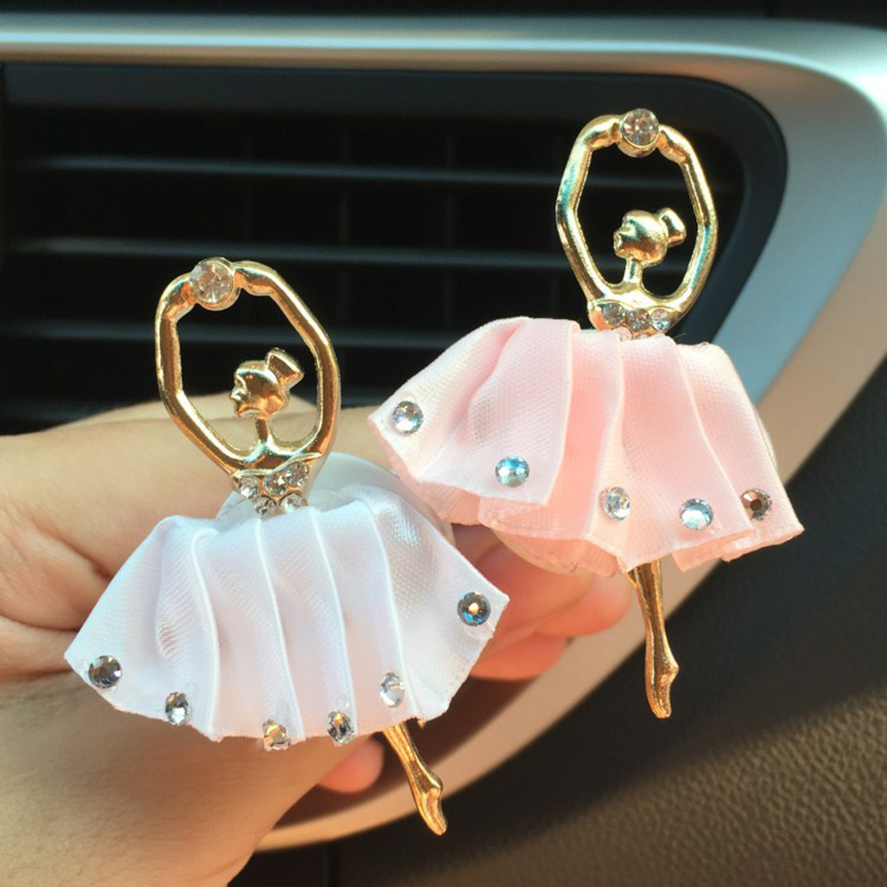Rhinestone Ballet Girls Air Freshener In The Car Perfume Smell Auto Interior Dec