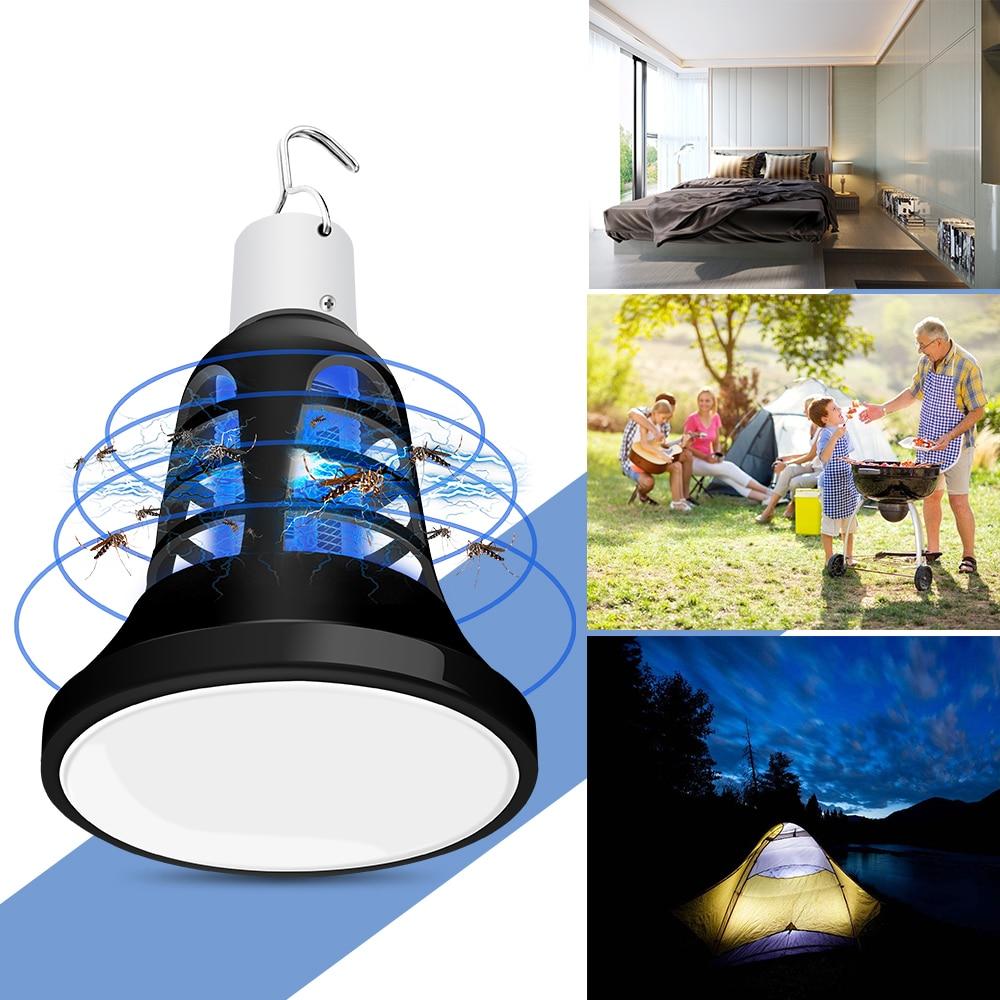 E27 Mosquito Killer Lamp LED Insect Killer Bulb 220V Anti Bug Zapper Indoor 110V Repellent Lamparas USB 5V Outdoor Camping Light in Mosquito Killer Lamps from Lights Lighting