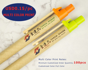 Image 4 - Caneta de madeira, lote 50 peças de caneta de esfera de papel eco, conceito verde, amigável, logotipo personalizado de promoção