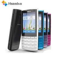 Original Nokia X3-02 3G Handy 5.0MP mit Russische Tastatur 5 Farben Auf Lager renoviert