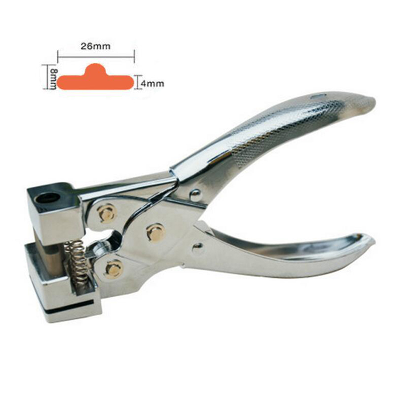 Metal Single Hole Puncher Hand Card Punch T-Shape Hole PVC Card Paper Card Manual Slot Puncher Cutter,26x8x4mm ID Cutter t30 paper drilling machine manual hand hole punch paper machine single hole thickness 35mm manual single hole drilling machine