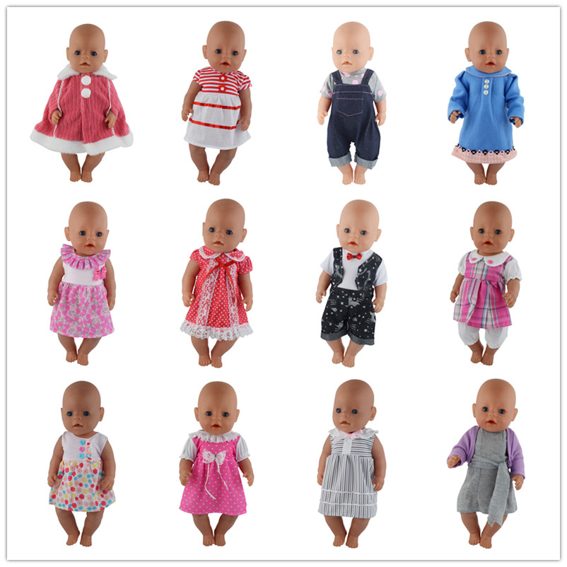15style Choose Beautiful Dress Clothes Wear fit 43cm Baby Doll Clothes and Accessories, Children best Birthday Gift цепочка