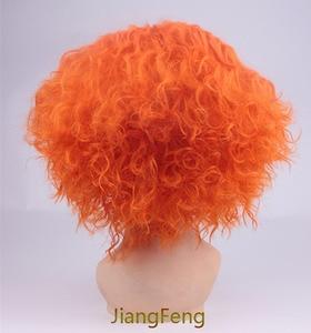 Image 3 - Movie Alice in Wonderland 2 Mad Hatter Cosplay Wigs Tarrant Hightopp Orange Short  Heat Resistant Synthetic Hair Wig + Wig Cap