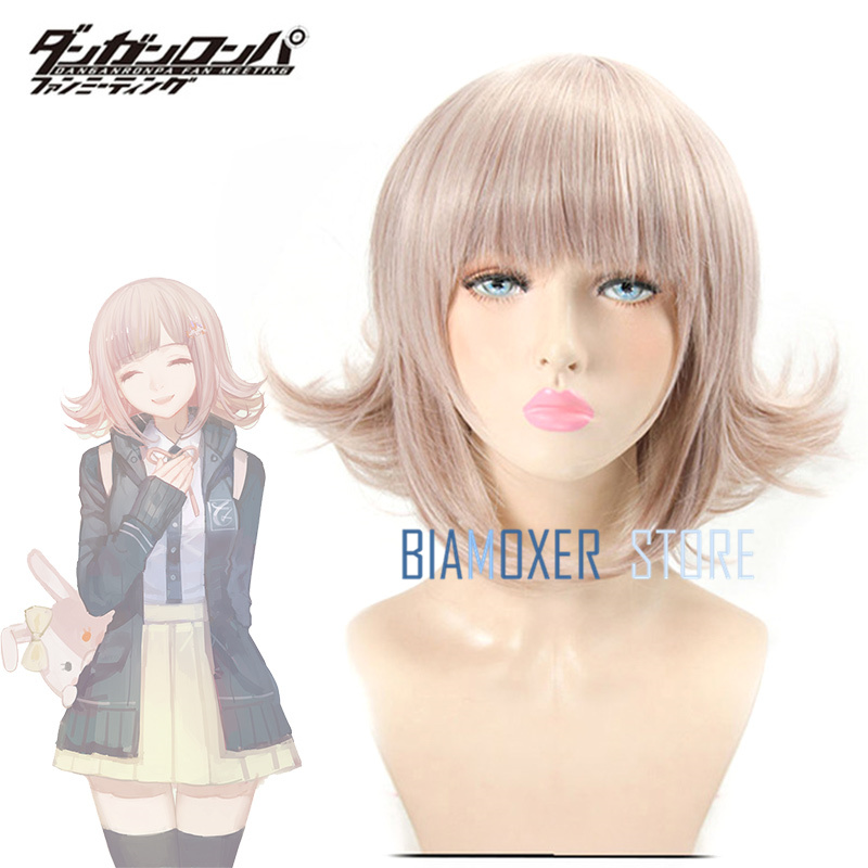 Game Danganronpa 2 Nanami ChiaKi Cosplay hair wig japanese anime flaxen halloween cosplay wigs Headwear for girl costume