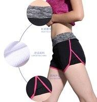 Las mujeres de yoga pantalones cortos pantalones cortos de fitness deportes al aire libre de secado rápido de absorción de humedad forrado con tanque de la muchacha pantalones de gimnasia