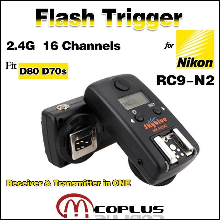 Meike RC9-N2 16 canaux récepteur sans fil et émetteurs-récepteurs en un seul déclencheur Flash pour Nikon D80 D70s