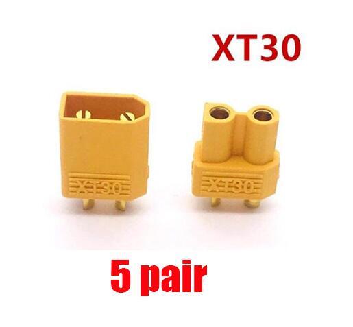 10/20 штук XT60 XT-60 штекерно-разъемы Вилки провод с силикатной гелевой обмоткой для Батарея(5/10 пар - Цвет: 5 pair XT30