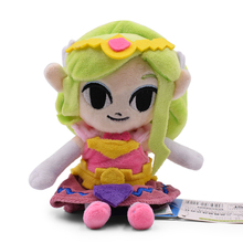 Anime The Legend of Zelda Link Princess Zelda Doll Plush Soft Stuffed Baby Toy Great Christmas Gift For Children все цены