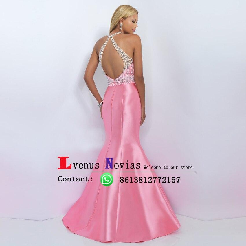Vestidos de gala de Lujo Perlas Rosa Sirena Vestidos de Baile ...