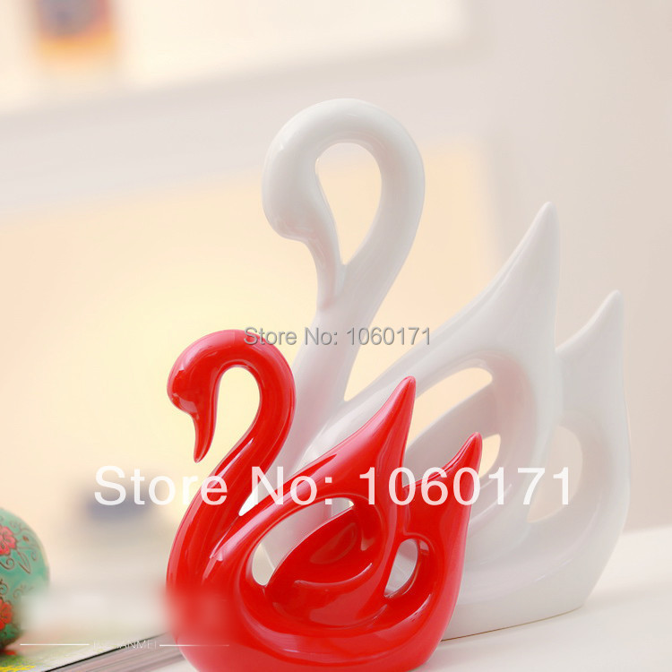Modern Home Ornaments Red White Couples Ceramic Swan Decoration Wedding  Gifts Living Room Porcelain Animal Swan Ornaments A Pair On Aliexpress.com    Alibaba ... Part 47