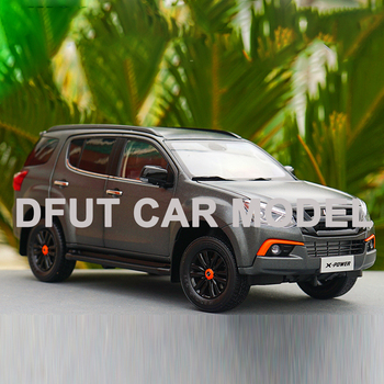 R 1:18Alloy Pull Back Toy Vehicles MU-X SUV Car Model Of Children's Toy Cars Original Authorized Authentic Kids Toys