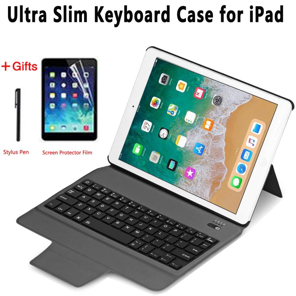 Ultra Thin Keyboard Case for iPad 5th 6th Generation 2017 2018 9.7 Pro 10.5 11 Air 10.5 2019 Air 1 2 Mini 1 2 3 4 5 Cover Funda