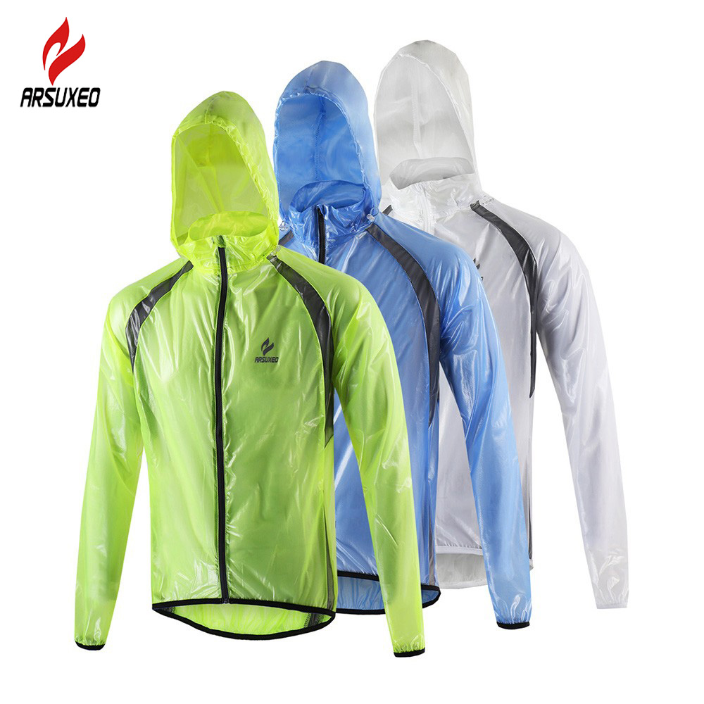 2017 ARSUXEO Winter Outdoor Sports Waterproof Windproof Pack Rain Cycling Jacket Bike Bicycle Running Ciclismo Jackets Men