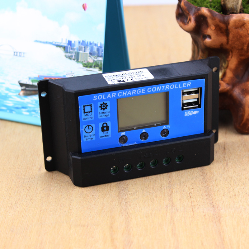 DC 12V 24V Auto 10A 20A 30A Solar Charge Controller PWM Solar battery charger Solar PV Regulators with LCD Display and 5V 3A USB pwm mode 20a solar charger controller 12v 24v auto identification with lcd display and usb port 20a solar controller