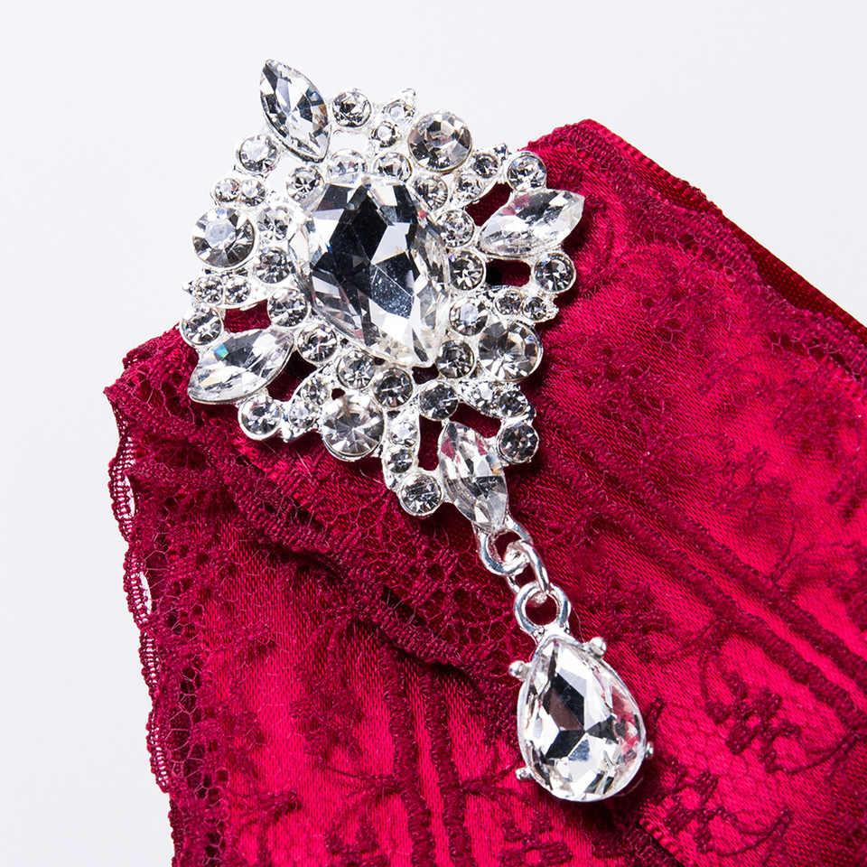 I - Remiel ถัก Multilaye Exaggeration ริบบิ้น Bow Tie เข็มกลัดสำหรับผู้หญิง Rhinestone Bowties ชุดเสื้อ Collar อุปกรณ์เสริม