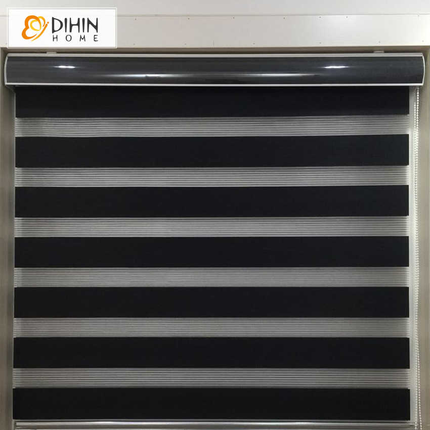 DIHIN HOME Upgarded Type High Quality  Zebra Blinds Rollor Blind Curtain Custom Made Blinds For Living Room Free Shipping