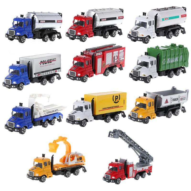 1: 64 Legering Diecast Techniek Truck Model Bouw Auto Decor Voor Kinderen Kerst Verjaardagscadeau Speelgoed Auto Voor Het Verbeteren Van De Bloedsomloop