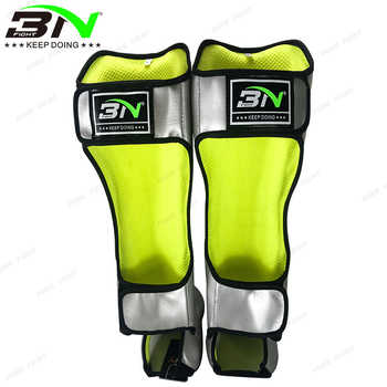 New Microfiber Leather Boxing Shin Guards Champaign Gold Ankle Protector MMA Muay Thai Training Leg Warmers KickBoxing Shin Pads