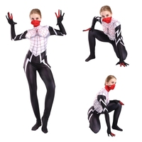 Cindy Moon Costume Cosplay Spiderman Women Girls Zentai Bodysuit Suit Jumpsuits Adult Kids
