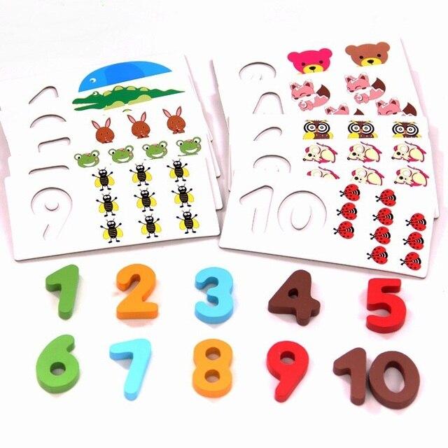 Высокое Качество раннее образование Математика Игрушки Деревянные Монтессори Математика Математика Материал Игрушки для Детей Дети Подарок W022