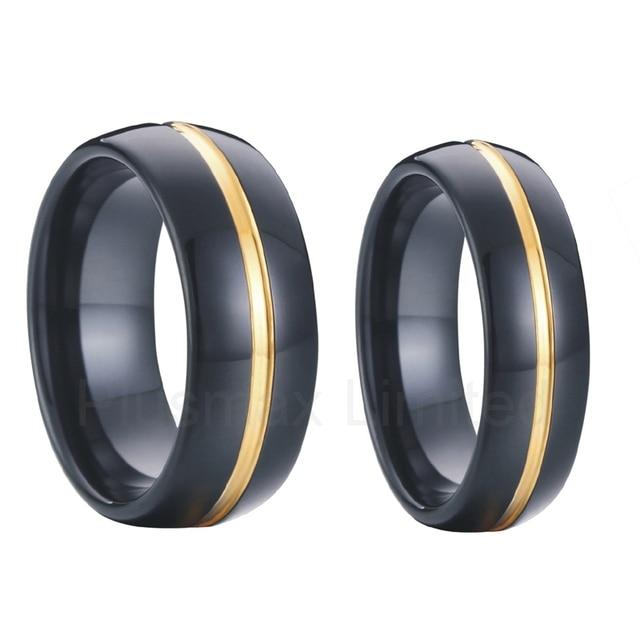 pair matching couple wedding band promise ring set 8mm men 6mm ...