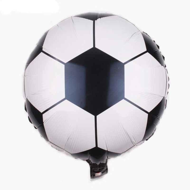 1 Uds. 18 pulgadas redondo deporte pelota globo de papel de aluminio de forma fútbol baloncesto voleibol globos de aire inflables niños cumpleaños fiesta regalos