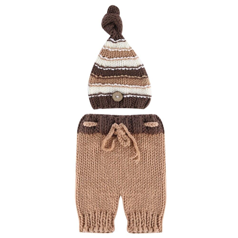 Newborn Baby Boys Girl Crochet Knit Costume Photo Photography Prop Beanie Hat