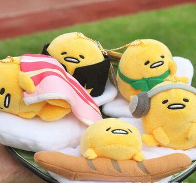 1pcs Wholesale 4Inch Gudetama Egg TSUM TSUM Plush Baby Dolls Toy Cartoon Mini Mame Petit Mascot Mamepuchi Gift Japan Random send new in box tsum tsum stack n play toy shop original