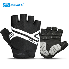 INBIKE Cycling Gloves Half Finger Bike Gloves Shockproof Bernapas MTB Mountain Bicycle Gloves Men's Sports Cycling Clothings