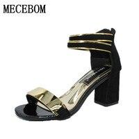 קיץ כפכפים נשים סנדלי נשים סנדלי אצבע של נועלת סנדלי העקב עבה נעלי נשים נעלי טריז פלטפורמת גלדיאטור סגנון קוריאני 808 W