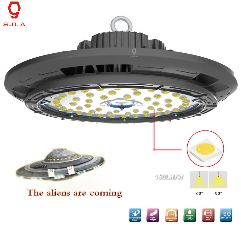 Waterproof IP65 UFO Lamp Beam Angle 60 90 100W 5 Years Warranty Warehouse Workshop Mining Supermarket Led High Bay Light loz architecture famous architecture building block toys diamond blocks diy building mini micro blocks tower house brick street