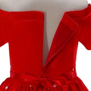 Image 5 - BAOHULU ילדי חג המולד שמלת ילדה קצר אדום נסיכת מסיבת שמלת חורת כדור שמלת עבור 2T 3T 4T 5T 6T 7T 8T 9T 10T 11T ילדים