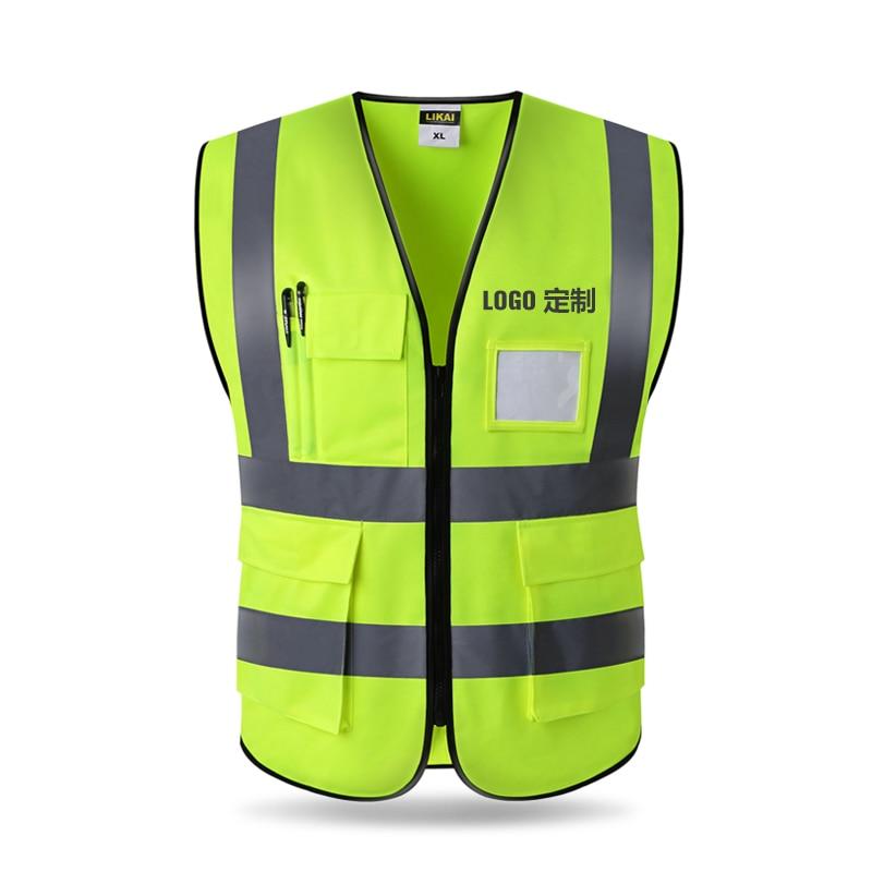 Reflective Vest High Visibility Fluorescent Safety Vest Outdoor Clothing Running Contest Vest Light-Reflective Ventilate Vest