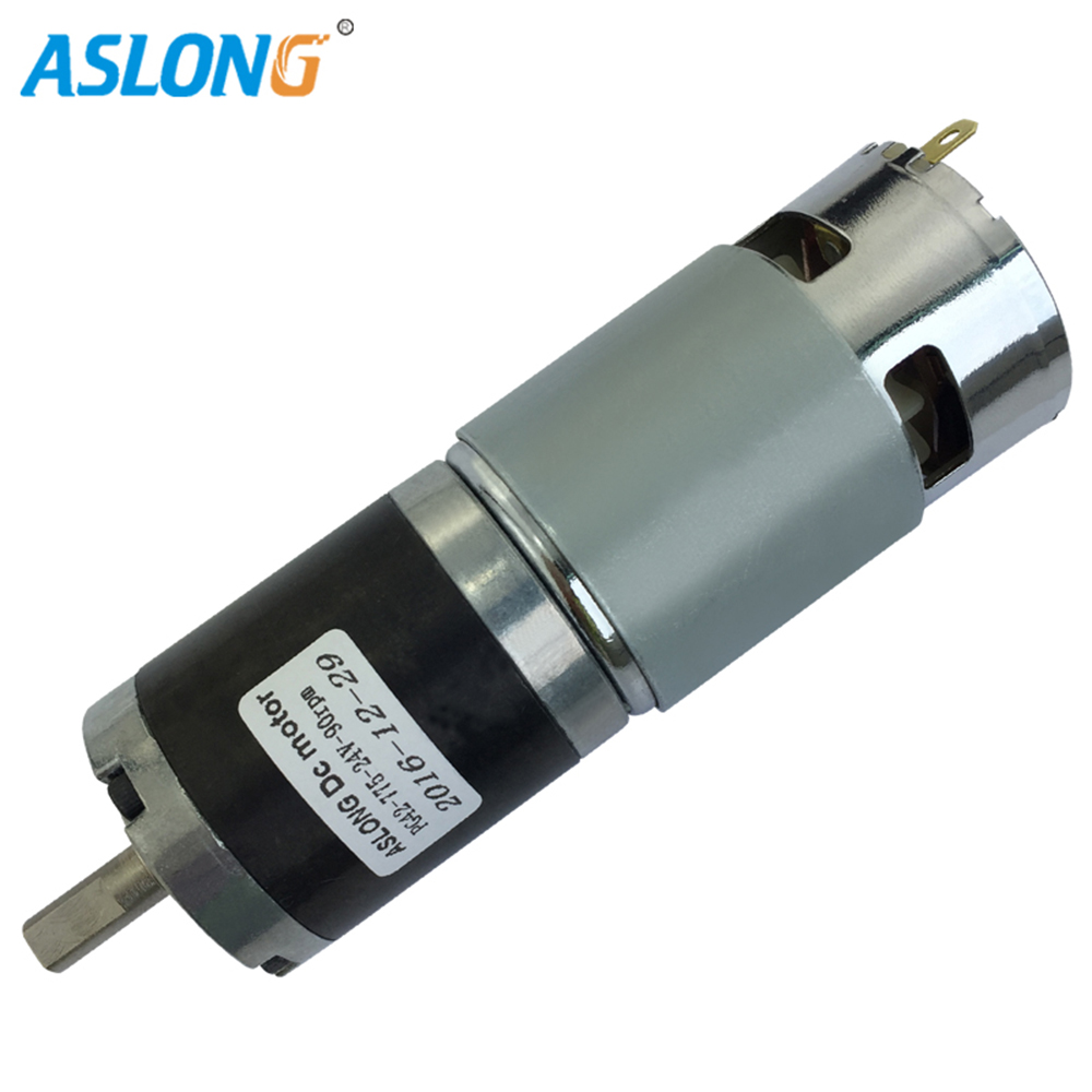 PG42-775 High Torque Precision Planetary Gear Motor With 42 Reducer 775 dc motor with planetary gear box 24v dc 775 motor high quality 5n m 42 42 119 7mm brushless dc motor with planetary gearbox reduction ratio 104 8