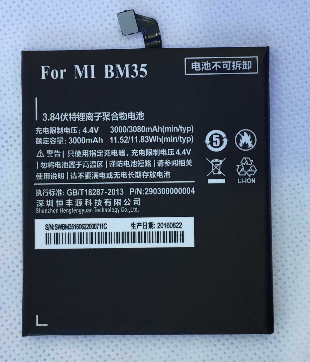 HFY BM35 For Xiaomi 4C Battery Mi4C Mi 4C 3000mAh <font><b>BM</b></font> <font><b>35</b></font> Battery for xiaomi4c image