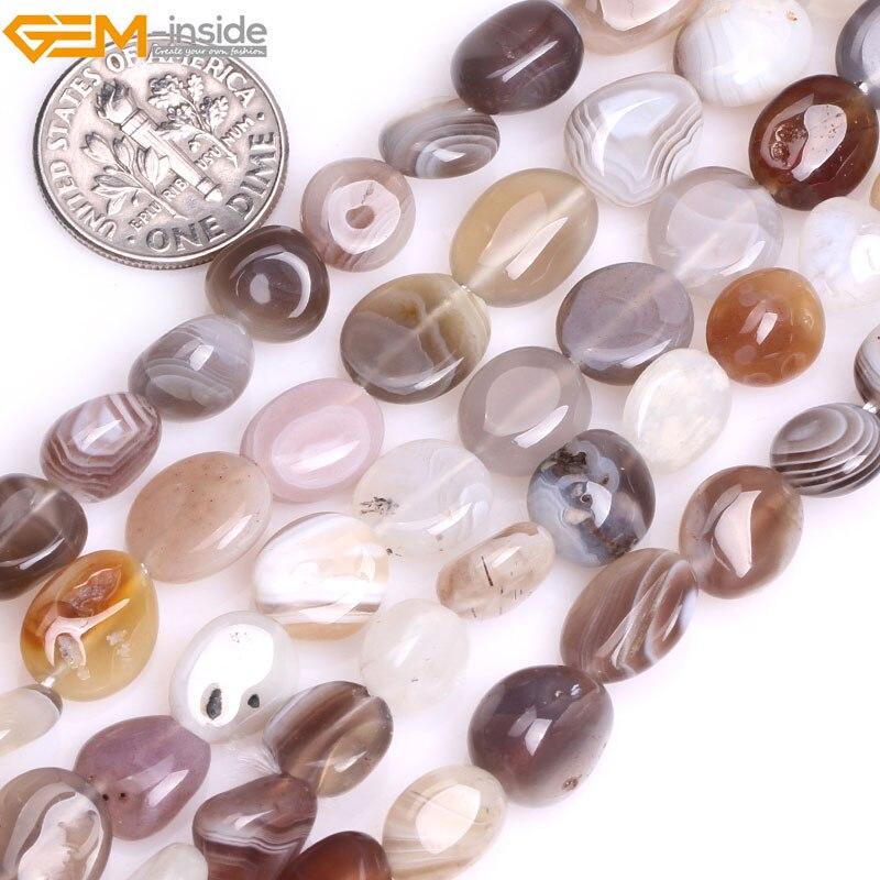 Gem-inside 8-10mm Natural Freeform Potato Shape Botswana Sardonyx Agates Beads For Jewelry Making 15inch DIY Beads Jewellery