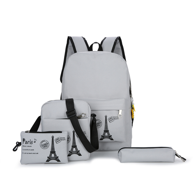 8b29661751 4Pcs School Bags+4 Sets Stationery