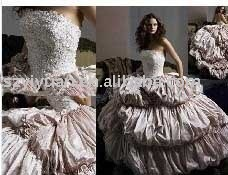 2011  New style hot sale sweetheart  Strapless  Exquisite Wedding  Prom gown