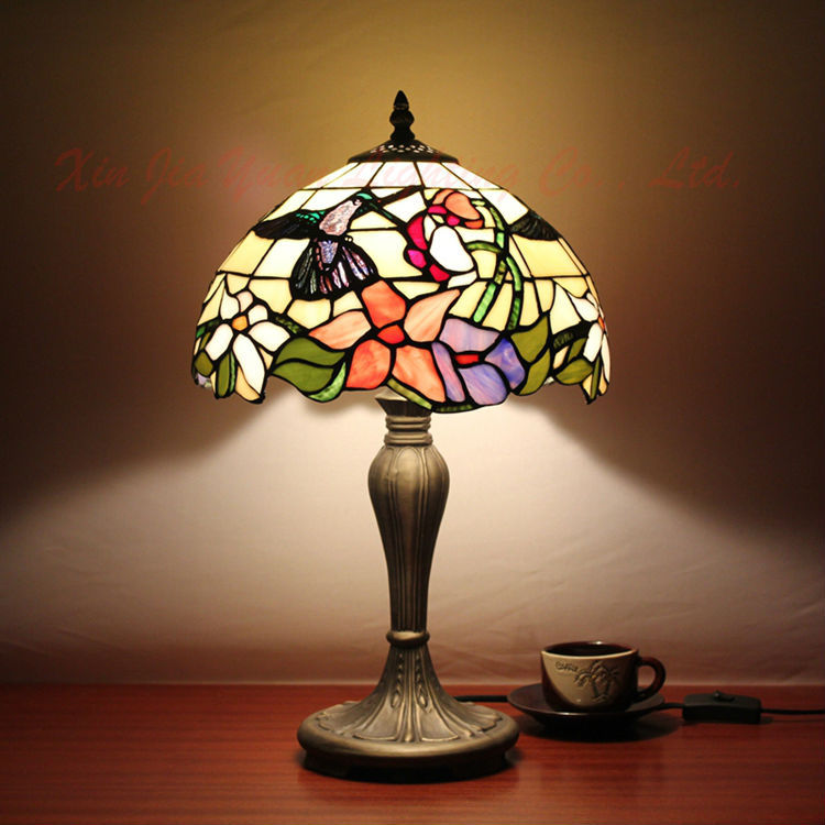 Antique Stained Glass Modern Table Lamp Tiffany Style Lustre