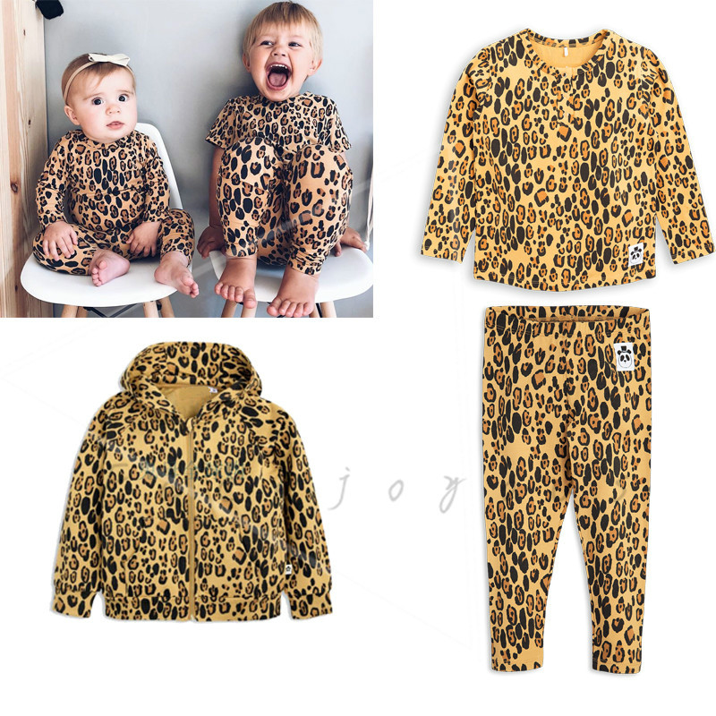 Kids Clothing Sets Mr Brand Long Sleeve Leopard Jacket Cotas T-shirt Pants 2018 Autumn Baby Girls Sports Suit Boys Clothes Bag baby boy clothes set autumn children clothing sets kids girls long sleeve elephant cotton pants boys clothes sports suit