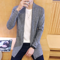 new autumn 2016 men's fashion trend of the Korean casual all-match accommodative solid color lapel cardigan sweater M-5XL