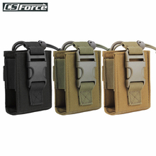 Tactical Molle Walkie Talkie Pouch Interphone Storage Bag Outdoor Molle Radio Pouch for Military Use Walkie-Talkie Case Holder
