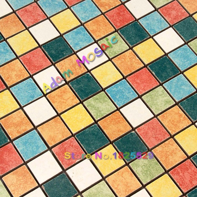 Porcelana azulejo de la cocina backsplash azulejos iridiscentes ...