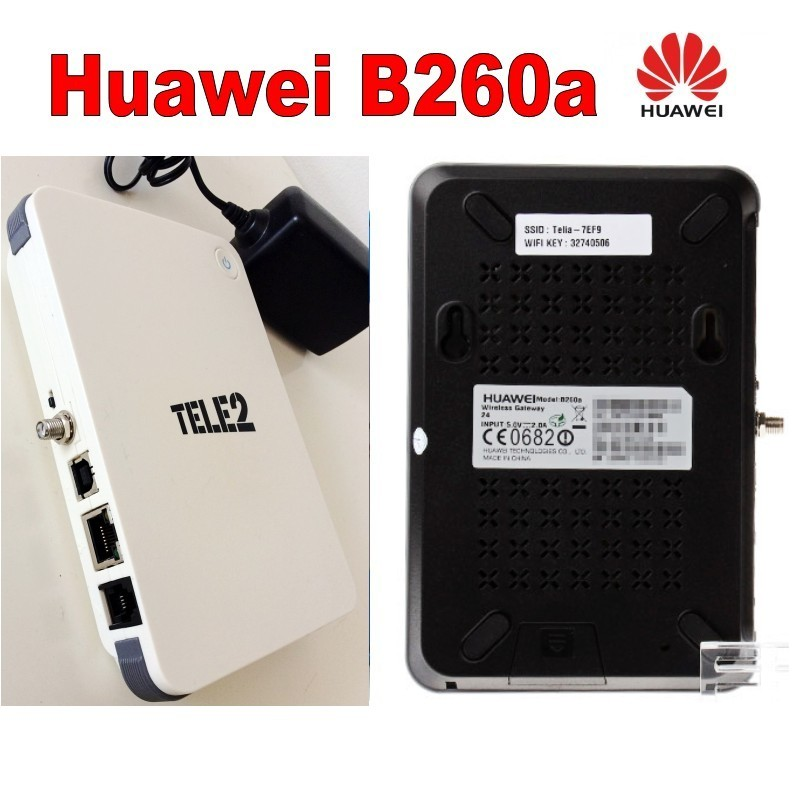 Huawei B260a 3G fwt/fixed wireless terminal/3g Wireless router with antenna 850/900/1800/1900/2100MHz black / white
