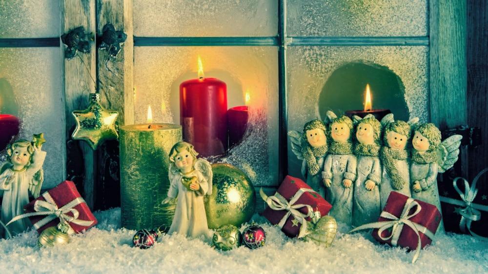4 led lights free shipping christmas wall art canvas print