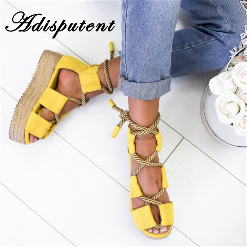Adisputent Comfortable Sandals Beach-Shoes Open-Toe Female Plus-Size Fashion New Torridity